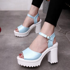 summer fish mouth Sponge fish mouth Women's shoes Waterproof Thick with High-heeled sandals female S130-Dollar Bargains Online Shopping Australia