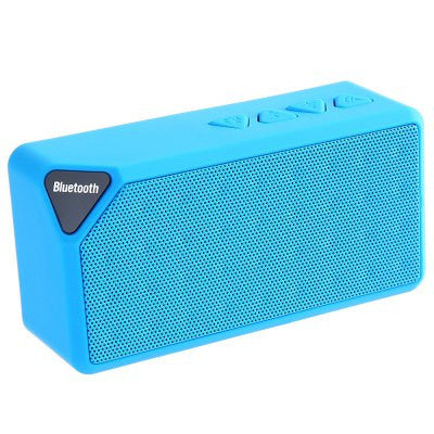 BlueMini Bluetooth Speaker X3 TF USB FM Radio Wireless Portable Music Sound Box Subwoofer Loudspeakers with Mic for iOS Android