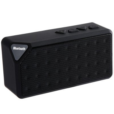 BlackMini Bluetooth Speaker X3 TF USB FM Radio Wireless Portable Music Sound Box Subwoofer Loudspeakers with Mic for iOS Android