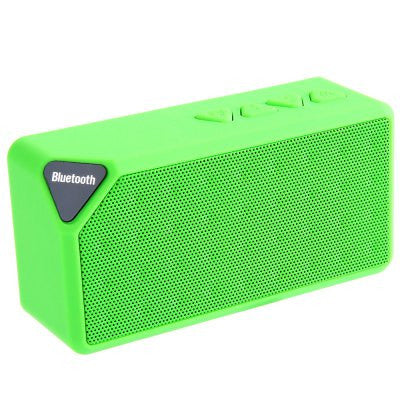 GreenMini Bluetooth Speaker X3 TF USB FM Radio Wireless Portable Music Sound Box Subwoofer Loudspeakers with Mic for iOS Android