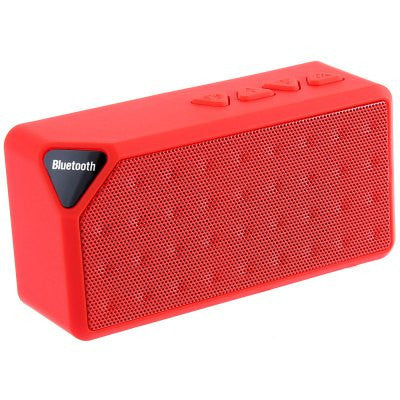 RedMini Bluetooth Speaker X3 TF USB FM Radio Wireless Portable Music Sound Box Subwoofer Loudspeakers with Mic for iOS Android