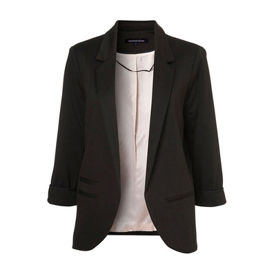Autumn Fashion Women 7 Colors Slim Fit Blazer Jackets Notched Three Quarter Sleeve Blazer-Dollar Bargains Online Shopping Australia