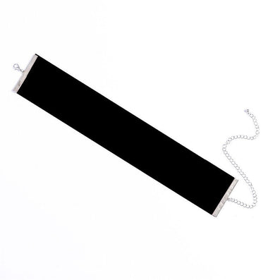 Plain Black Velvet Choker Necklace Gothic Vintage Wide Ribbon Neckless Collar Jewelry For Women #83119-Dollar Bargains Online Shopping Australia