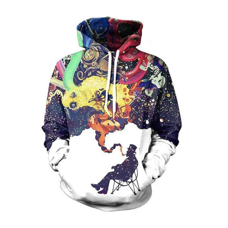 Blue / SFashion Sportswear hip hop Printed Men's Hoodies Brand-Clothing Hoodies Sweatshirts Korean Hoodies For Men Streetwear Wear