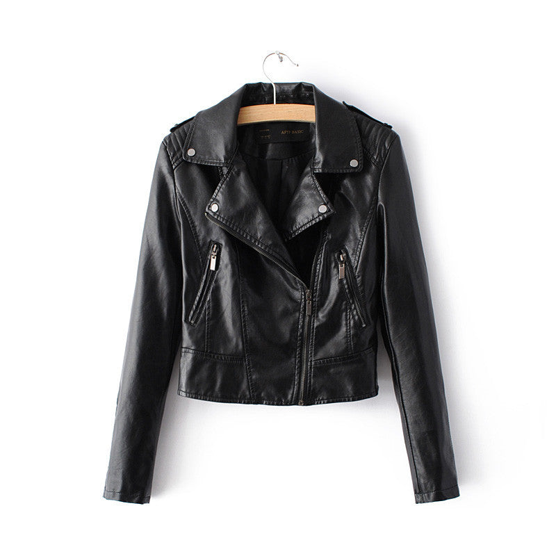 1603Black / SNew Fashion Women Motorcycle Faux Soft Leather Jackets Female Winter Autumn Brown Black Coat Outwear