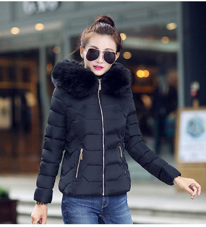 Womens Winter Jackets And Coats 2016 Women's Parkas Thick Warm Faux Fur Collar Hooded Anorak Ladies Jacket Female Manteau Femme - Dollar Bargains - 4