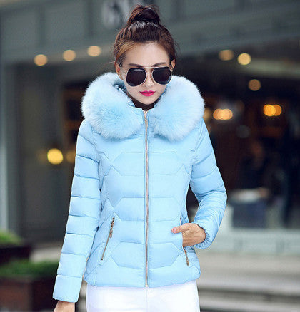 Womens Winter Jackets And Coats 2016 Women's Parkas Thick Warm Faux Fur Collar Hooded Anorak Ladies Jacket Female Manteau Femme - Dollar Bargains - 6