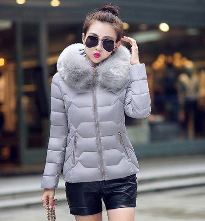 Womens Winter Jackets And Coats 2016 Women's Parkas Thick Warm Faux Fur Collar Hooded Anorak Ladies Jacket Female Manteau Femme - Dollar Bargains - 2
