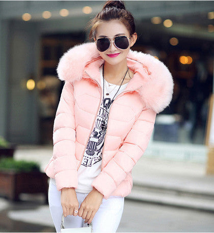 Womens Winter Jackets And Coats 2016 Women's Parkas Thick Warm Faux Fur Collar Hooded Anorak Ladies Jacket Female Manteau Femme - Dollar Bargains - 5