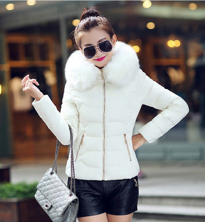 Womens Winter Jackets And Coats 2016 Women's Parkas Thick Warm Faux Fur Collar Hooded Anorak Ladies Jacket Female Manteau Femme - Dollar Bargains - 3
