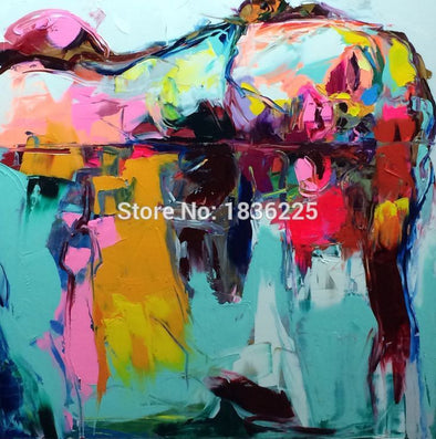 Handmade Oil Painting Pop Art Nielly Francoise Lady Face Modern Abstract 100% On Canvas No Frame Sleeping Beauty Girl Painting-Dollar Bargains Online Shopping Australia