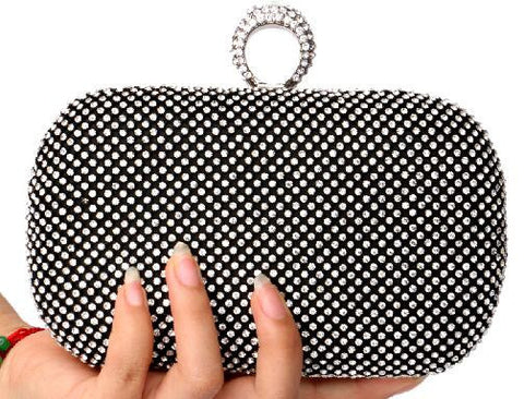 2016 diamond-studded evening bag evening bag with a diamond bag women's rhinestone banquet handbag day clutch female 3 Color - Dollar Bargains - 2