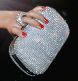 2016 diamond-studded evening bag evening bag with a diamond bag women's rhinestone banquet handbag day clutch female 3 Color - Dollar Bargains - 4