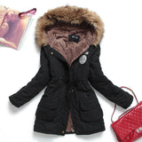 new winter women jacket medium-long thicken plus size 4XL outwear hooded wadded coat slim parka cotton-padded jacket overcoat-Dollar Bargains Online Shopping Australia