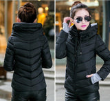 2016 Winter Jacket Women Parka Thick Winter Outerwear Plus Size Down Coat Short Slim Design Cotton-padded Jackets And Coats TD1 - Dollar Bargains - 10