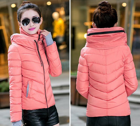 2016 Winter Jacket Women Parka Thick Winter Outerwear Plus Size Down Coat Short Slim Design Cotton-padded Jackets And Coats TD1 - Dollar Bargains - 3