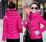 2016 Winter Jacket Women Parka Thick Winter Outerwear Plus Size Down Coat Short Slim Design Cotton-padded Jackets And Coats TD1 - Dollar Bargains - 19