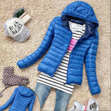 5 Color Winter Jacket Women Outerwear Slim Hooded Down Jacket Woman Warm Down Coat padded-Dollar Bargains Online Shopping Australia