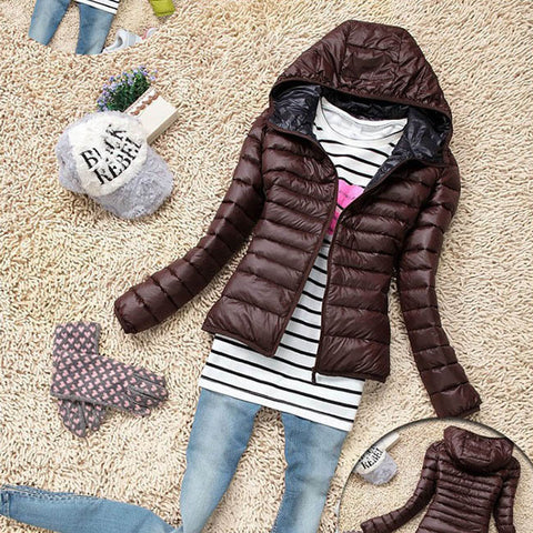 5 Color 2016 New Winter Jacket Women Outerwear Slim Hooded Down Jacket Woman Warm Down Coat padded - Dollar Bargains - 4