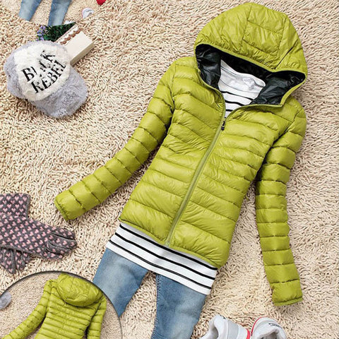 5 Color 2016 New Winter Jacket Women Outerwear Slim Hooded Down Jacket Woman Warm Down Coat padded - Dollar Bargains - 5