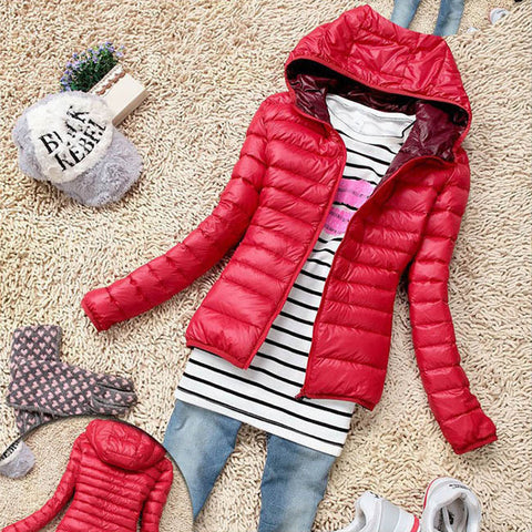5 Color 2016 New Winter Jacket Women Outerwear Slim Hooded Down Jacket Woman Warm Down Coat padded - Dollar Bargains - 2