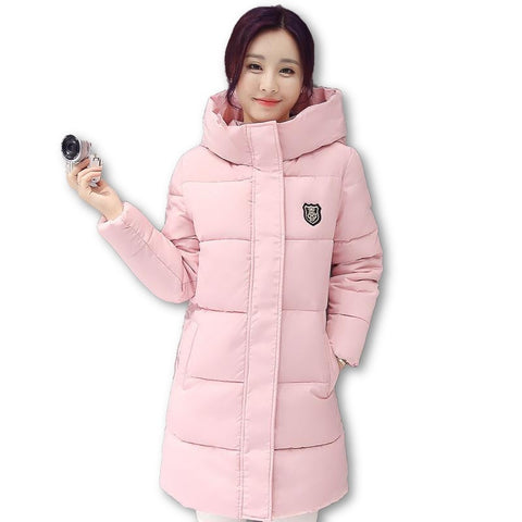 2016 Down parka women autumn winter coat down long coat 8665 winter jacket women coat - Dollar Bargains - 1