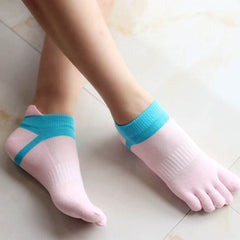 Summer New Womens Socks Cotton Meias Five Finger Socks Casual Toe Socks Breathable Calcetines Ankle Socks 8 Colors-Dollar Bargains Online Shopping Australia