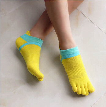 Summer New Womens Socks Cotton Meias Five Finger Socks Casual Toe Socks Breathable Calcetines Ankle Socks 8 Colors