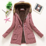 Winter Coat Women Parka Casual Outwear Military Hooded Thickening Cotton Coat Winter Jacket Fur Coats Women Clothes D21-Dollar Bargains Online Shopping Australia
