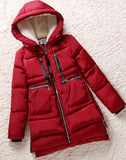 Women parka thick 2016 wadded jacket female winter jacket women outerwear slim jackets medium-long down cotton parkas red coats - Dollar Bargains - 2
