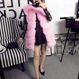 New Women Winter Sleeveless Faux Fox Fur Leather Thick Coat Outerwear Vest Plus Size Padded Jacket Overcoat Parka Q1778-Dollar Bargains Online Shopping Australia