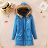 2016 Winter Womens Parka Casual Outwear Military Hooded Coat Winter Jacket Women Fur Coats Women's Winter Jackets And Coats SD30 - Dollar Bargains - 4