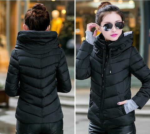 New Wadded Winter Jacket Women Cotton Short Jacket Fashion 2016 Girls Padded Slim Plus Size Parkas Stand collar Coat DT1 - Dollar Bargains - 9