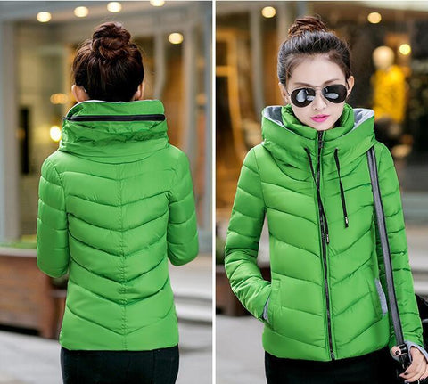 New Wadded Winter Jacket Women Cotton Short Jacket Fashion 2016 Girls Padded Slim Plus Size Parkas Stand collar Coat DT1 - Dollar Bargains - 16