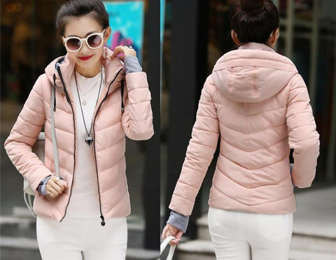 New Wadded Winter Jacket Women Cotton Short Jacket Fashion 2016 Girls Padded Slim Plus Size Parkas Stand collar Coat DT1 - Dollar Bargains - 8