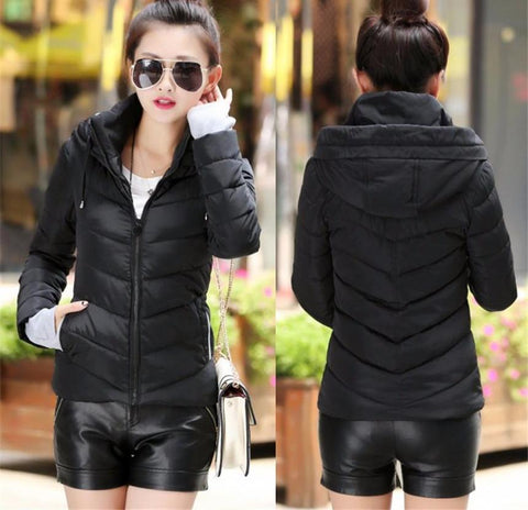 New Wadded Winter Jacket Women Cotton Short Jacket Fashion 2016 Girls Padded Slim Plus Size Parkas Stand collar Coat DT1 - Dollar Bargains - 5