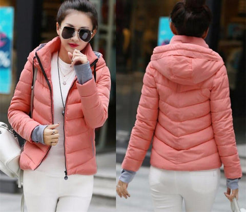 New Wadded Winter Jacket Women Cotton Short Jacket Fashion 2016 Girls Padded Slim Plus Size Parkas Stand collar Coat DT1 - Dollar Bargains - 12