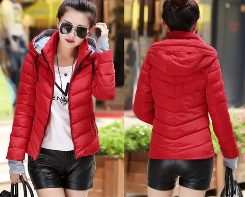 New Wadded Winter Jacket Women Cotton Short Jacket Fashion 2016 Girls Padded Slim Plus Size Parkas Stand collar Coat DT1 - Dollar Bargains - 2