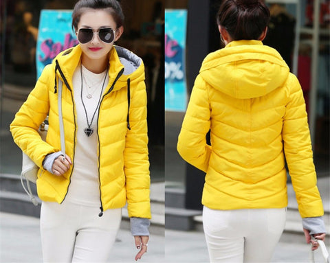 New Wadded Winter Jacket Women Cotton Short Jacket Fashion 2016 Girls Padded Slim Plus Size Parkas Stand collar Coat DT1 - Dollar Bargains - 10