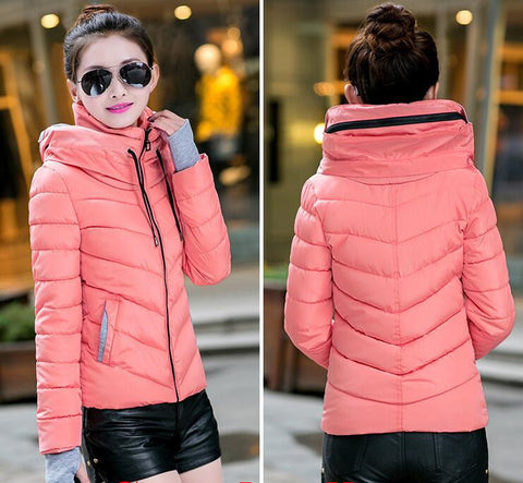 New Wadded Winter Jacket Women Cotton Short Jacket Fashion 2016 Girls Padded Slim Plus Size Parkas Stand collar Coat DT1 - Dollar Bargains - 14