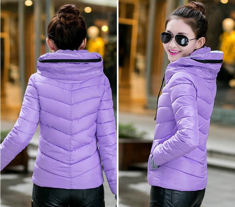 New Wadded Winter Jacket Women Cotton Short Jacket Fashion 2016 Girls Padded Slim Plus Size Parkas Stand collar Coat DT1 - Dollar Bargains - 3