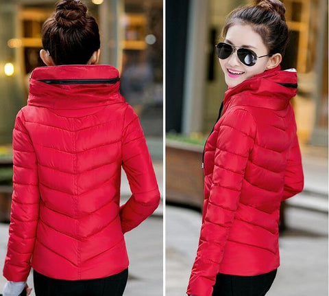 New Wadded Winter Jacket Women Cotton Short Jacket Fashion 2016 Girls Padded Slim Plus Size Parkas Stand collar Coat DT1 - Dollar Bargains - 13
