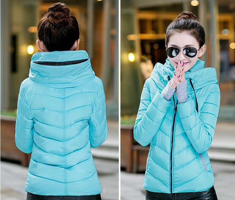 New Wadded Winter Jacket Women Cotton Short Jacket Fashion 2016 Girls Padded Slim Plus Size Parkas Stand collar Coat DT1 - Dollar Bargains - 6