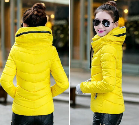 New Wadded Winter Jacket Women Cotton Short Jacket Fashion 2016 Girls Padded Slim Plus Size Parkas Stand collar Coat DT1 - Dollar Bargains - 15