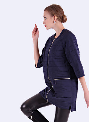 Round Collar Women's Winter Jacket And Ultra Light Coat Female With Zippers And Pockets Multiple Colour 12-278-Dollar Bargains Online Shopping Australia