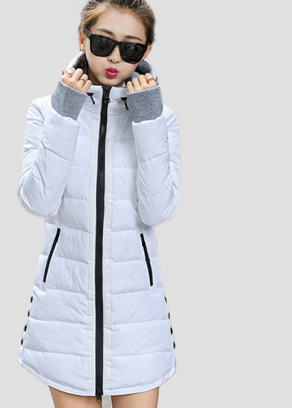 d55555ba187 Warm Winter Jackets Women Fashion Down Cotton Parkas Casual Hooded Long Coat  Thickening Plus Size Parka