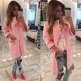 lady fashion Winter Trench Women's Long Sleeve Knitted Cardigan Loose Outwear Coat 5 Colors-Dollar Bargains Online Shopping Australia