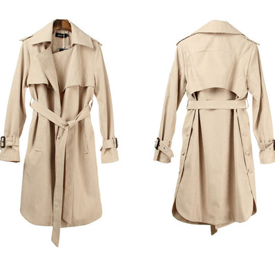 Fashion Long Trench Coat For Women Autumn Spring Trench Coats Outerwear Loose Coat Gabardina Mujer Trench HO851770-Dollar Bargains Online Shopping Australia