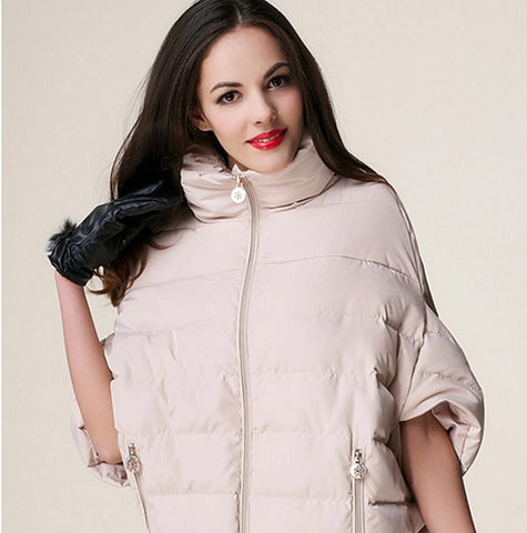 2016 full new ladies fashion down coat winter jacket outerwear Bat sleeve thick women jackets parka overcoat women cotton-padded - Dollar Bargains - 2