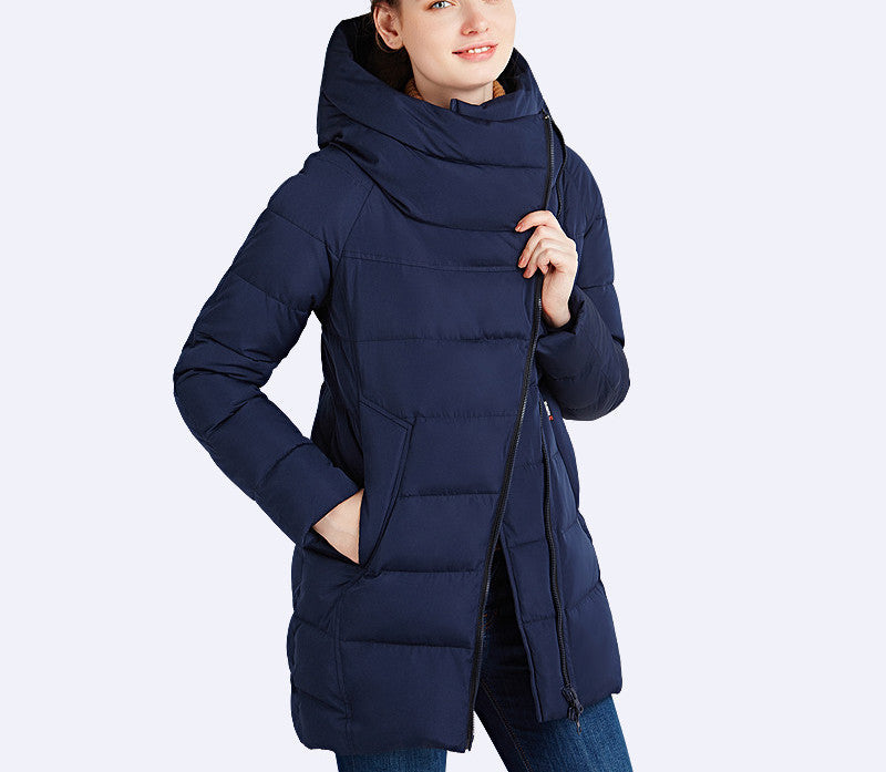 IECbear 2016 New Winter Collection Women's Parka Hooded Warm Jacket New Fashion Brand High Quality Thick Outwear Coat 16G607 - Dollar Bargains - 4